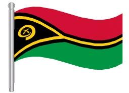 דגלון ואנואטו - Vanuatu flag