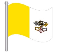 דגלון הוותיקן - Vatican City flag
