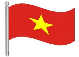 דגלון ויאטנם - Vietnam flag