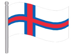 דגל איי פארו - Faroe Islands flag