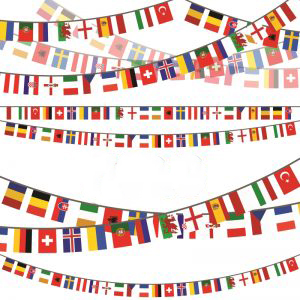 שרשרת דגלי מדינות יורו 2020 מבד(10 מטר) 30*20