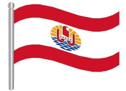 דגל פולינזיה הצרפתית - French Polynesia flag