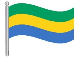 דגל גבון - Gabon flag
