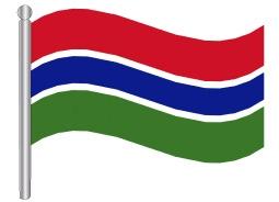 דגל גמביה - Gambia flag