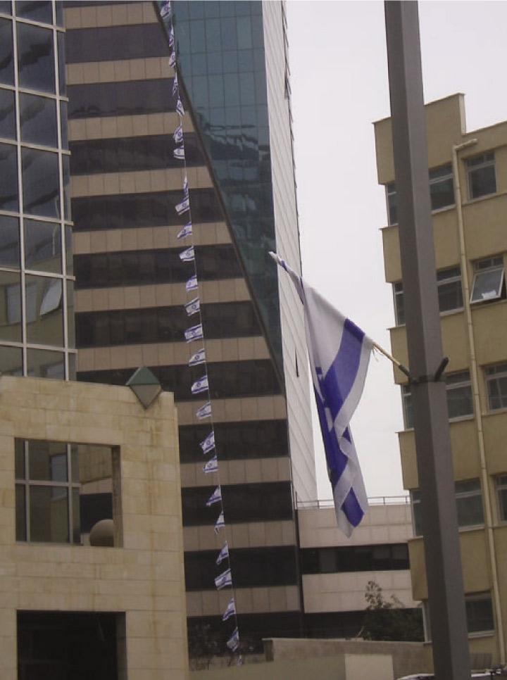 שרשרת דגלי ישראל מבד 50 מ' לפי מידה
