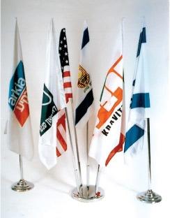 סטנד לדגל 2עד12קנים מניקל - תמונה 1