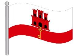 דגל ג'יברלטר - Gibraltar flag