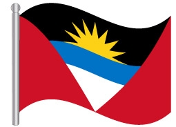 דגל אנטיגואה וברבודה - Antigua and Barbuda flag