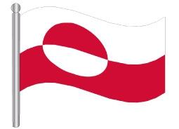 דגל גרינלנד - Greenland flag