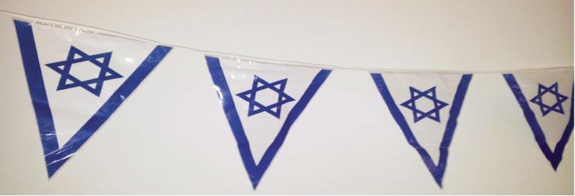 שרשרת דגלים לאום משולש
