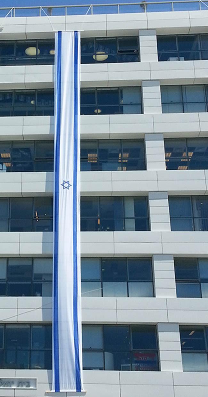 דגל אורך לבניין 10X1 ייבוא