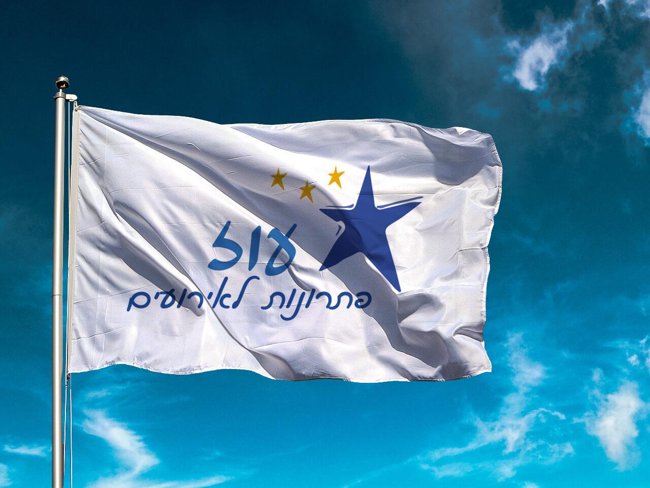 דגל לוגו בהתאמה אישית 110*80