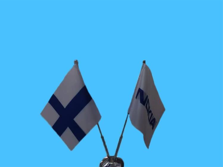 מעמד דו קני שולחני מניקל(המחיר לא כולל דגלים)