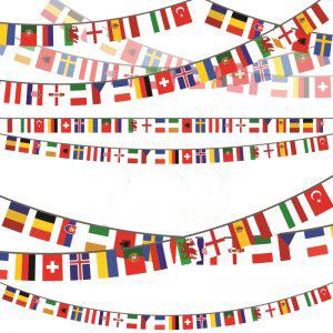 שרשרת דגלי מדינות המונדיאל מבד(10 מטר) 21X15