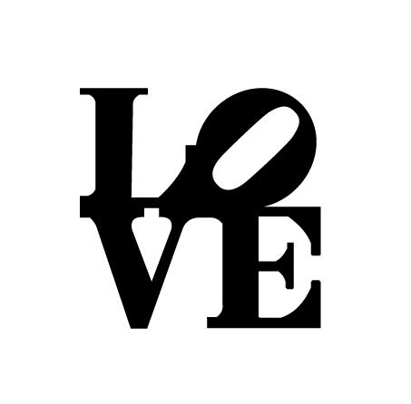 מדבקת קיר - Love