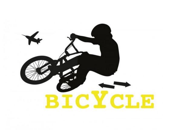 מדבקת קיר - פעלולי אופניים