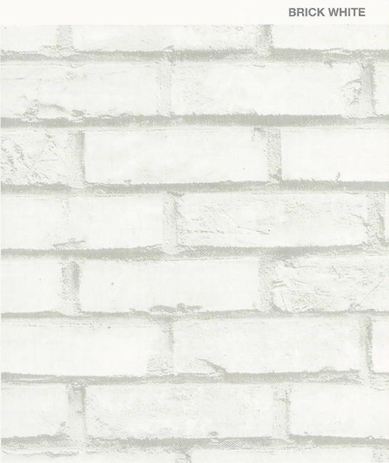 טפטים בהדבקה עצמית - קיר אבן לבן