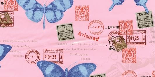 טפט להדבקה עצמית - Butterflies