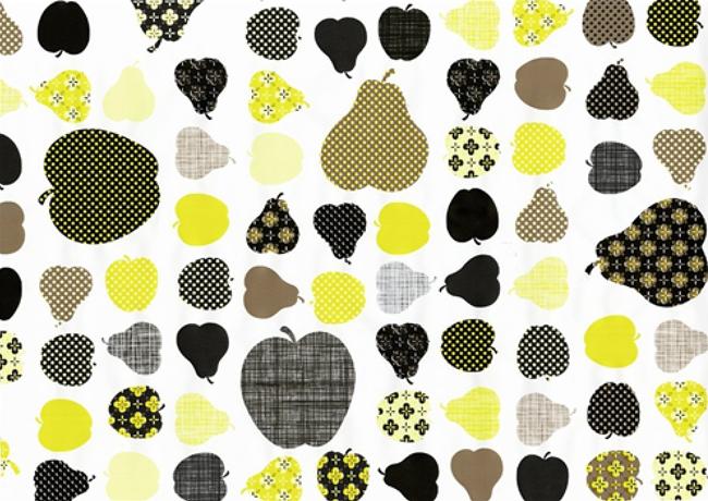 טפט להדבקה עצמית - Apples&Pears yellow