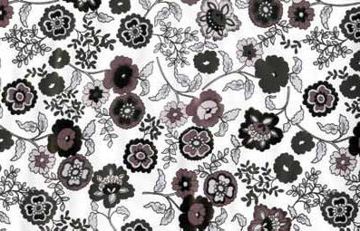 טפט להדבקה עצמית -  Flowers grey
