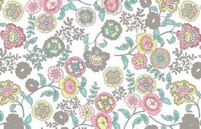 טפט להדבקה עצמית -  Flowers white