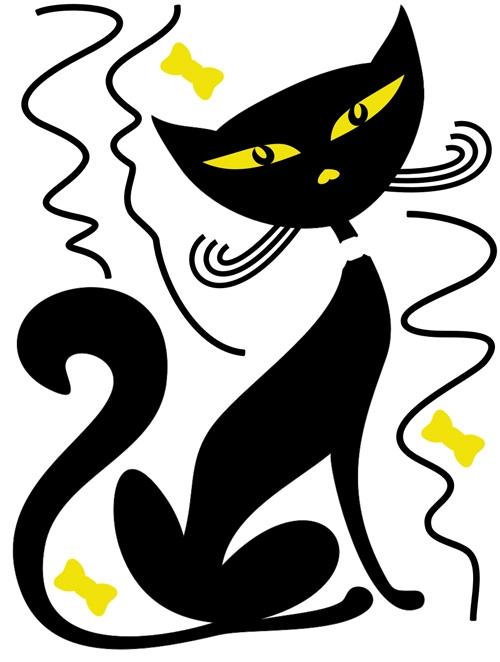 מדבקת חתול יושב