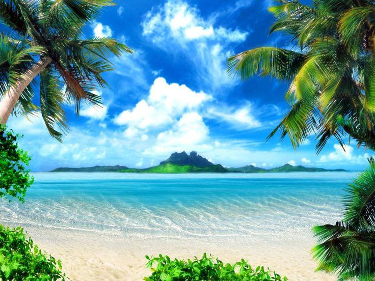 תמונת טפט לקיר - נוף של אי