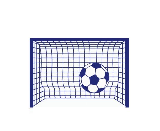 מדבקת קיר לילדים - שער כדורגל