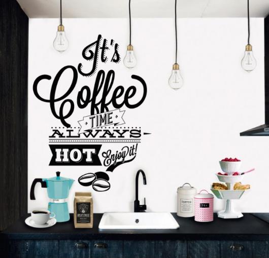 מדבקת קיר - זמן קפה