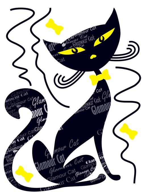 מדבקת חתול כתוב