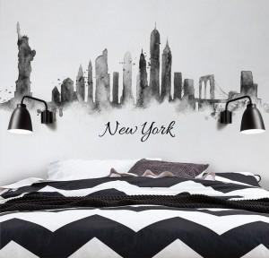 מדבקת קיר - ניו-יורק