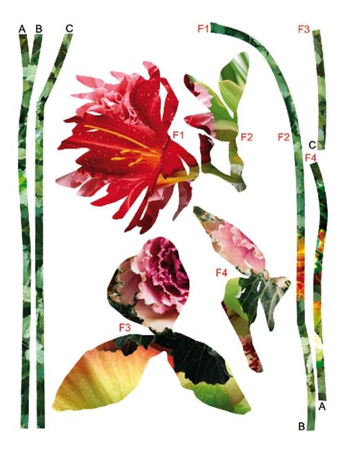 מדבקה של גזירי פרחים