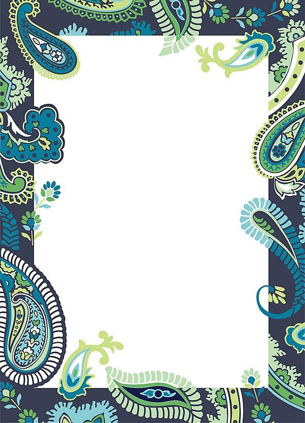 Paisley: blue/green