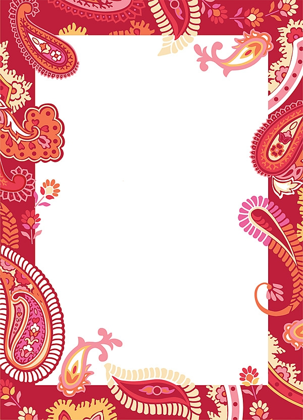 Paisley: red/pink