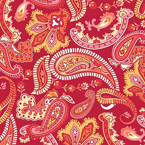 Paisley please - red/pink