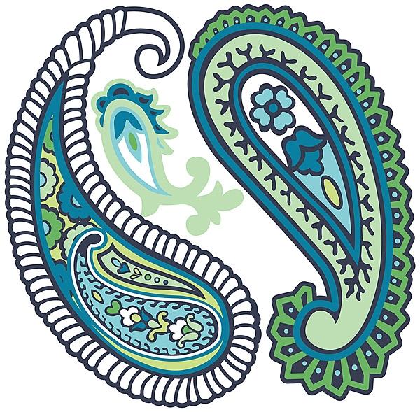 Paisley please - blue/green