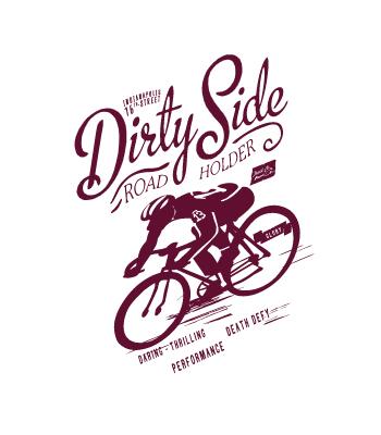 מדבקת קיר של רוכב אופניים