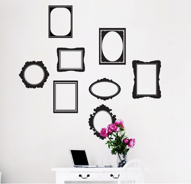 מדבקת קיר - מסגרות לתמונות