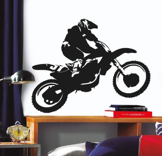 מדבקת קיר - אופנוען