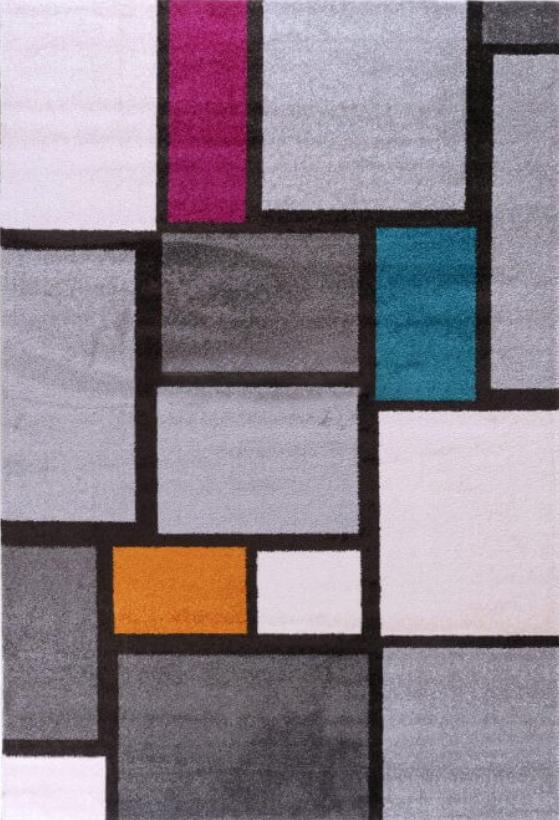 שטיח מרובעים צבעוניים