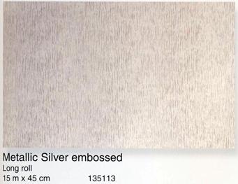 טפט להדבקה עצמית - Metallic Silver embossed