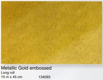 טפט להדבקה עצמית - Metallic Gold embossed