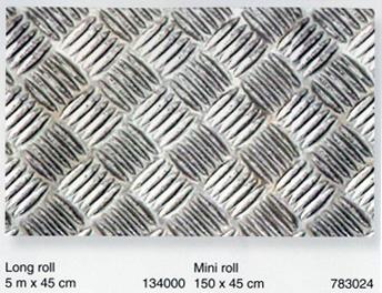 טפט להדבקה עצמית - Checker Plate - דמוי פח