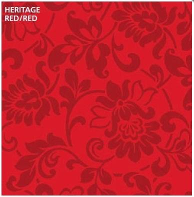 טפט קטיפה מיוחד להדבקה עצמית - Heritage red/red