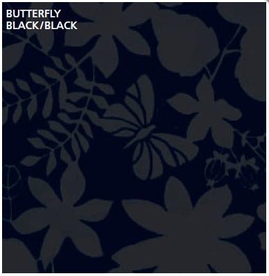 טפט קטיפה מיוחד להדבקה עצמית - Butterfly black/black