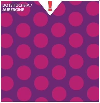 טפט קטיפה מיוחד להדבקה עצמית - Dots Fuchsia/Aubergine