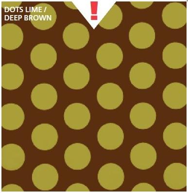 טפט קטיפה מיוחד להדבקה עצמית - Dots Lime/Deep Brown