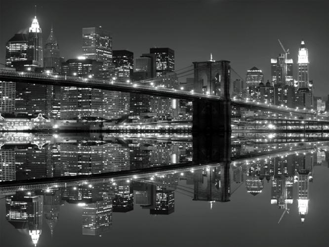 תמונת טפט - River view שחור לבן