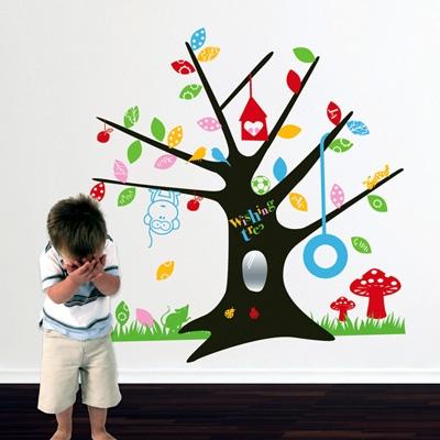מדבקת קיר ילדים - עץ המשאלות