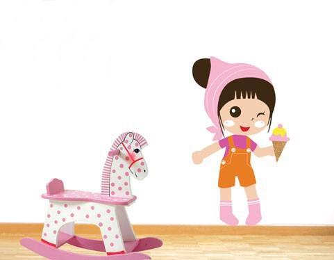מדבקת קיר גלידה